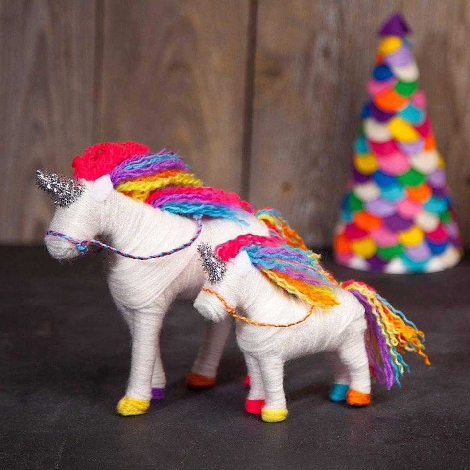 <p>Your tween can flex their creative muscles with this magical <span>Yarn Unicorn Kit</span> ($20).</p>