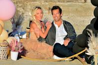<p><em>Real Housewives of Orange County</em> star Braunwyn Windham-Burke celebrates one year being sober with husband Sean at the beach on Sunday.</p>