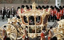 <p>Queen Elizabeth in a carriage at her 1977 Silver Jubilee.</p>