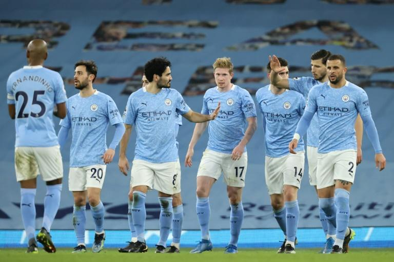 Squad gains: Manchester City's strength in depth has allowed Pep Guardiola's men to still be in the running for four major trophies this season