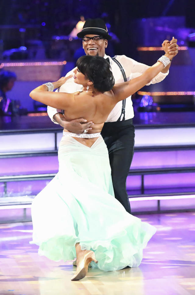 """Cheryl Burke and D.L. Hughley perform on """"Dancing With the Stars."""""""