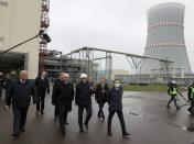 Belarusian President Lukashenko visits a nuclear power plant near Astravets