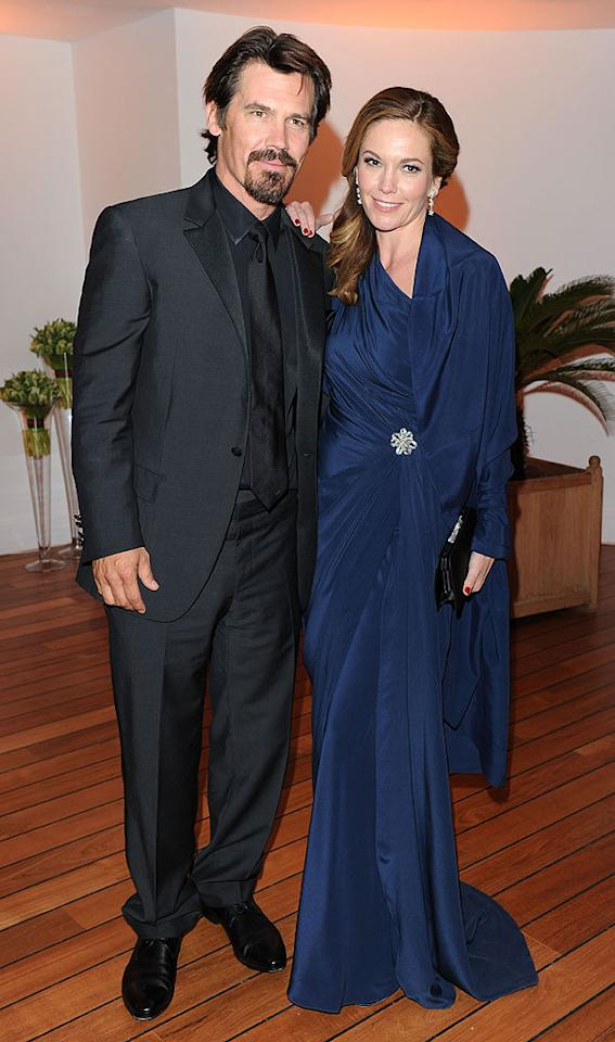 """Shooting down any rumors of marital strife, Josh Brolin and Diane Lane, in a beautiful Monique Lhuillier one-shoulder navy gown, were openly affectionate at the exclusive event. Venturelli/VF1/<a href=""""http://www.wireimage.com"""" target=""""new"""">WireImage.com</a> - May 15, 2010"""
