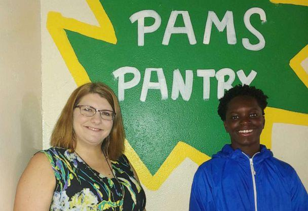 PHOTO: Chase Neyland-Square, a student at Port Allen Middle School in Port Allen, Louisiana, is seen in a recent photo with his principal, Jessica Major. (Courtesy Jessica Major)