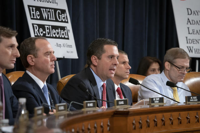 Rep. Devin Nunes, R-Calif., the ranking member of the House Intelligence Committee, questions witnesses. (Photo: J. Scott Applewhite/AP)