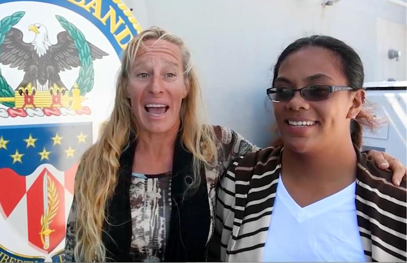 Jennifer Appel and Tasha Fuiava have said they were not entirely prepared for their trip: ASSOCIATED PRESS