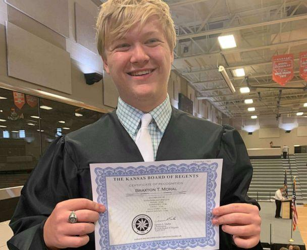 PHOTO: Braxton Moral, 17, will receive his undergraduate degree from Harvard Extension School on May 30. (Courtesy Brittney Jo Seger )