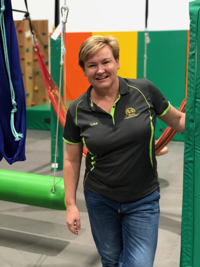 Owner of The Shine Shed, a play centre for people with disabilities, in Campbelltown, NSW, Lisa Fruhstuck.