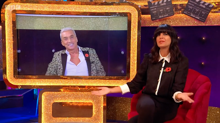 Tonioli calls in from the US, where he's filming 'Dancing with the Stars' (BBC)