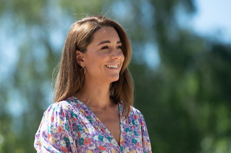 Kate Middleton helped plant a garden at The Nook, one of East Anglia Children's Hospices's facilities, of which she is a royal patron. (Photo: Joe Giddens / POOL / AFP) (Photo by JOE GIDDENS/POOL/AFP via Getty Images)