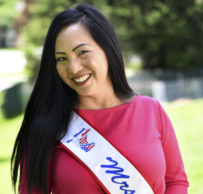 Kellie Chauvin in 2018 when she was vying for the title of Mrs. Minnesota America. (Jean Pieri / Pioneer Press via AP file)