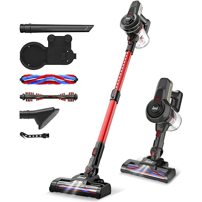 INSE Cordless Vacuum, 12KPa Powerful Vacuum Cleaner with 160W