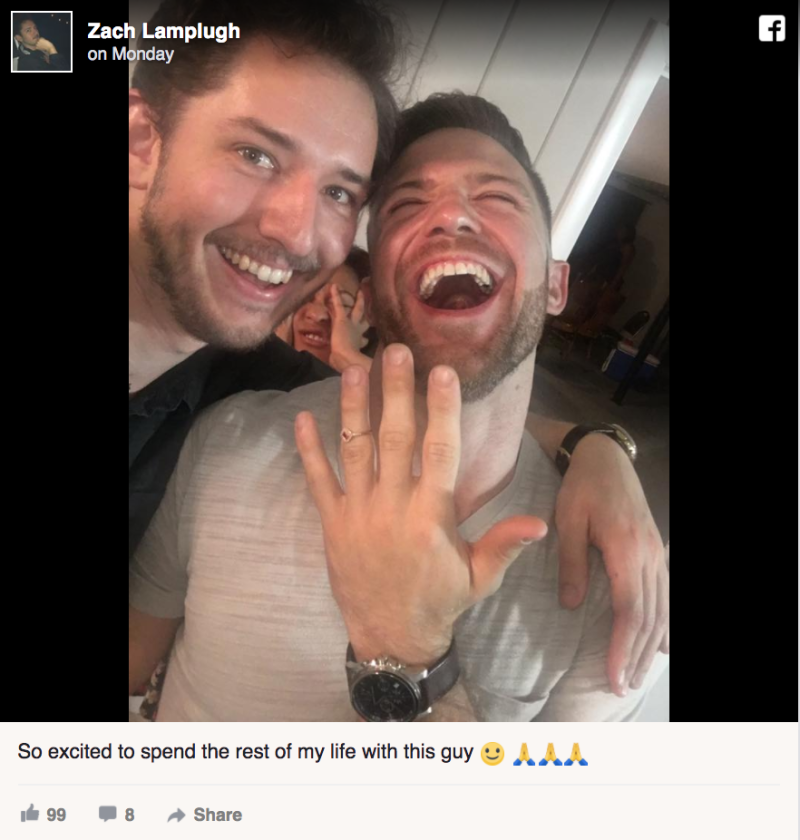 """Guy Trolls Facebook With Series of Fake """"Engagement Photos"""""""