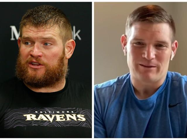 Marshal Yanda lost 64 pounds in the first four months after retiring from the NFL.