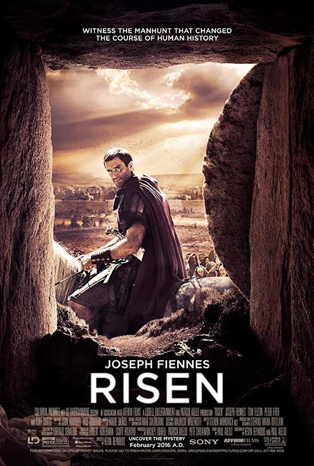 """<p><em>Risen </em>tells the story of one non-believer's quest to find out what happened to Christ after the Resurrection. <em></em> </p><p><a class=""""body-btn-link"""" href=""""https://www.amazon.com/Risen-Cliff-Curtis/dp/B01BT678WQ?tag=syn-yahoo-20&ascsubtag=%5Bartid%7C10070.g.16643651%5Bsrc%7Cyahoo-us"""" target=""""_blank"""">STREAM NOW </a></p>"""