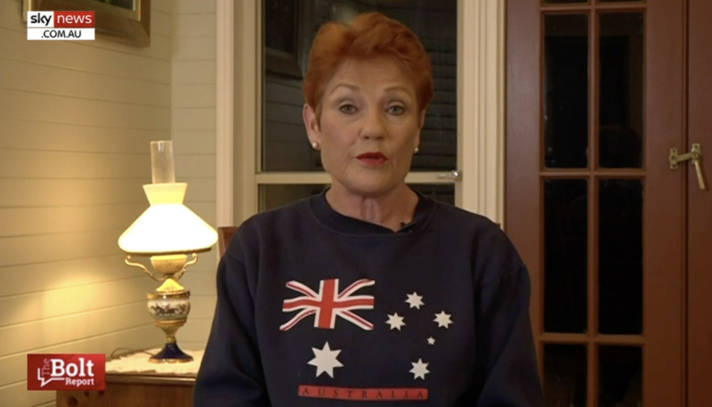 Pauline Hanson said she won't be deterred by her axing from Channel Nine. Source: Sky News