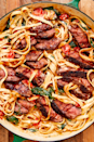 "<p>Have pre-made sirloin on hand? This creamy steak fettuccine is where it's at. </p><p>Get the recipe from <a href=""https://www.delish.com/cooking/recipe-ideas/a19867560/creamy-steak-fettuccine-recipe/"" rel=""nofollow noopener"" target=""_blank"" data-ylk=""slk:Delish"" class=""link rapid-noclick-resp"">Delish</a>. </p>"