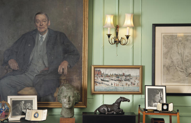 This is an undated image made available Thursday, May 30, 2013 by Christie's London of the interior of T.S. Eliot and his wife Valerie's apartment in London. A multimillion-dollar trove of works by artists including J.M.W. Turner, Francis Bacon, Lucian Freud and Winston Churchill that were owned by poet T.S. Eliot's widow will be sold in London later this year, Christie's auction house announced Friday, May 31, 2013. (AP Photo/Christie's Images Limited) ONE TIME USE ONLY, NO ARCHIVE, NO SALES