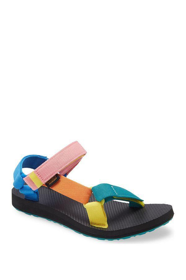"""<p><strong>Teva</strong></p><p>nordstrom.com</p><p><strong>$50.00</strong></p><p><a href=""""https://go.redirectingat.com?id=74968X1596630&url=https%3A%2F%2Fwww.nordstrom.com%2Fs%2Fteva-original-universal-sandal-women%2F3604071&sref=https%3A%2F%2Fwww.oprahdaily.com%2Fstyle%2Fg25893553%2Fbest-sandals-for-women%2F"""" rel=""""nofollow noopener"""" target=""""_blank"""" data-ylk=""""slk:SHOP NOW"""" class=""""link rapid-noclick-resp"""">SHOP NOW</a></p><p>Consider these your new go-tos. These water-resistant Tevas are lightweight and easy to whip on and off thanks to a smart """"hook-and-loop"""" closure. Plus, they come in a range of fun colors and patterns.</p>"""