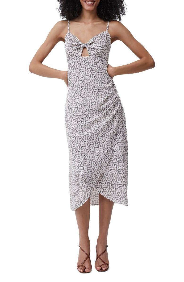 <p><span>French Connection Aura Ditsy Tie Front Sleeveless Crepe Dress</span> ($89, originally $148)</p>