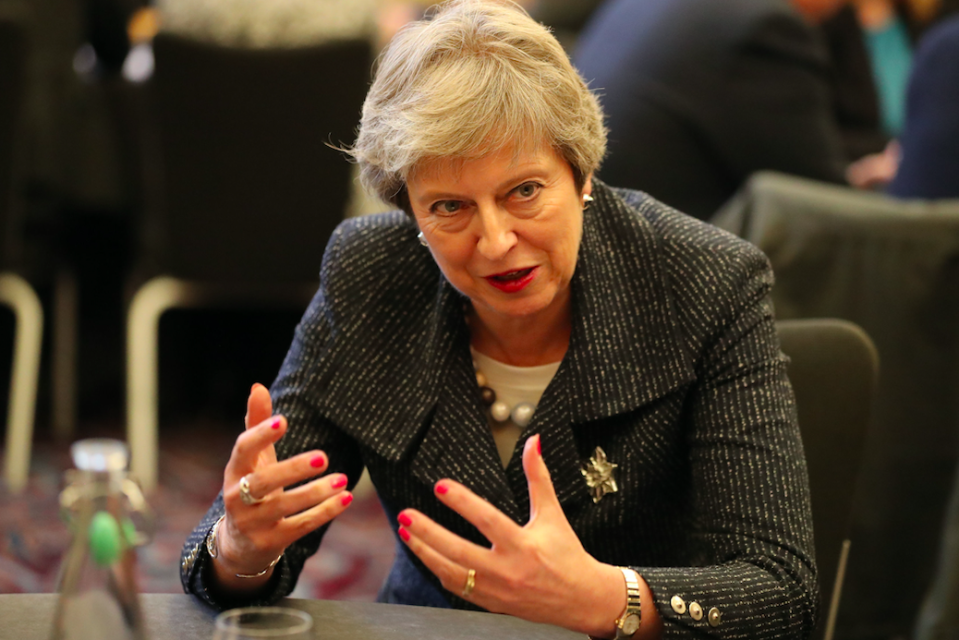<em>Mrs May is trying to sell her Brexit plans to the country (Getty)</em>