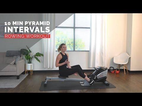 """<p>Great if you're time-pressed, this pyramid class will get you sweaty and working hard in no time. 10-mins, all in – we like that. </p><p><a href=""""https://www.youtube.com/watch?v=E5-WVI-1mUE&list=PLmSMzYVzFCo1mguhL-RVRJRoHL_u3YOsV&index=7&ab_channel=SunnyHealth%26Fitness"""" rel=""""nofollow noopener"""" target=""""_blank"""" data-ylk=""""slk:See the original post on Youtube"""" class=""""link rapid-noclick-resp"""">See the original post on Youtube</a></p>"""