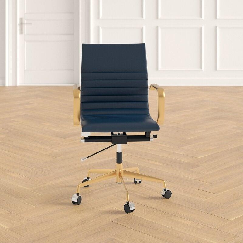 "<h2>Joss & Main Office Chair</h2> <br><strong>Best For: Stylish Support</strong><br>While this chair is not quite as ergonomic as the previous option, it is decidedly more stylish — while still offering solid lumbar support, back-angle adjustment, center-tilt capabilities, and properly aligned armrests. <br><br><strong>The Hype: </strong>4.6 out of 5 stars and 628 reviews on <a href=""https://www.jossandmain.com/furniture/pdp/office-chair-j000091202.html"" rel=""nofollow noopener"" target=""_blank"" data-ylk=""slk:Joss & Main"" class=""link rapid-noclick-resp"">Joss & Main</a><br><br><strong>Comfy Butts Say: </strong>""This is a great looking chair at a good price (I did a lot of shopping around!). It is also quite comfortable. I sat in the same chair at work for 13+ years and my back, shoulders, and neck were constantly hurting. I recently started working from home and using this chair and I never have back, shoulder, or neck pain anymore.""<br><br><strong>Joss & Main</strong> Office Chair, $, available at <a href=""https://go.skimresources.com/?id=30283X879131&url=https%3A%2F%2Fwww.jossandmain.com%2Ffurniture%2Fpdp%2Foffice-chair-j000091202.html"" rel=""nofollow noopener"" target=""_blank"" data-ylk=""slk:Joss & Main"" class=""link rapid-noclick-resp"">Joss & Main</a><br><br><br><br><br><br>"