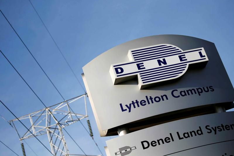 FILE PHOTO: Denel company logo is seen at the entrance of their business divisions in Pretoria