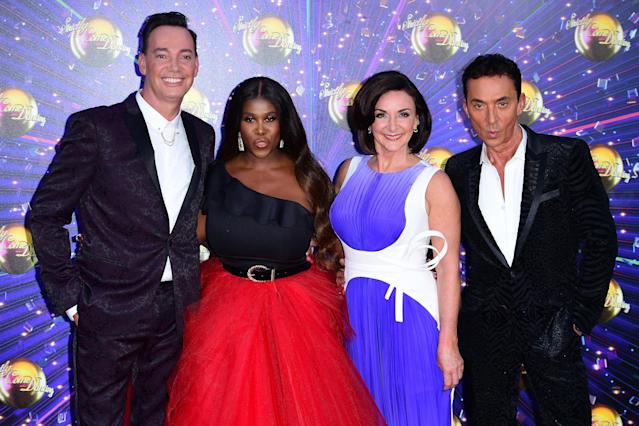 Craig Revel Horwood, Motsi Mabuse, Shirley Ballas and Bruno Tonioli at the red carpet launch of Strictly Come Dancing 2019.