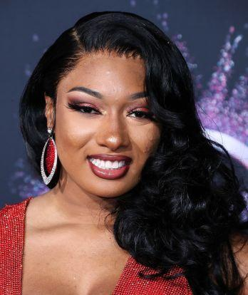 Rapper Megan Thee Stallion arrives at the 2019 American Music Awards held at Microsoft Theatre L.A. Live on November 24, 2019 in Los Angeles, California, United States.