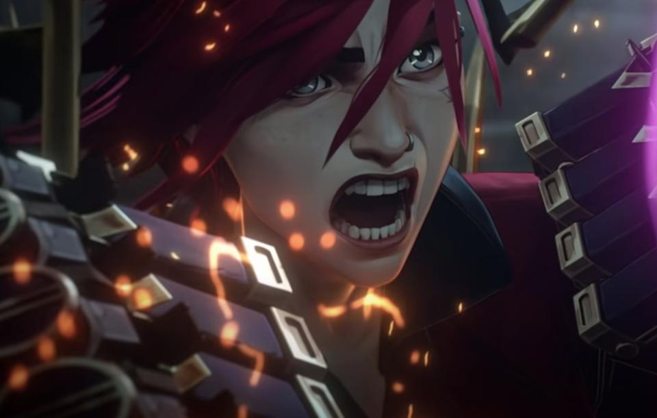 Vi the Piltover Enforcer, one of the principal characters of Arcane, the upcoming League of Legends animated series on Netflix. (Photo: Riot Games/Netflix)