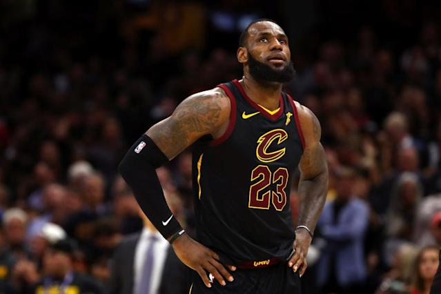 LeBron James and the Cavaliers are one loss away from a very interesting summer. (Getty)