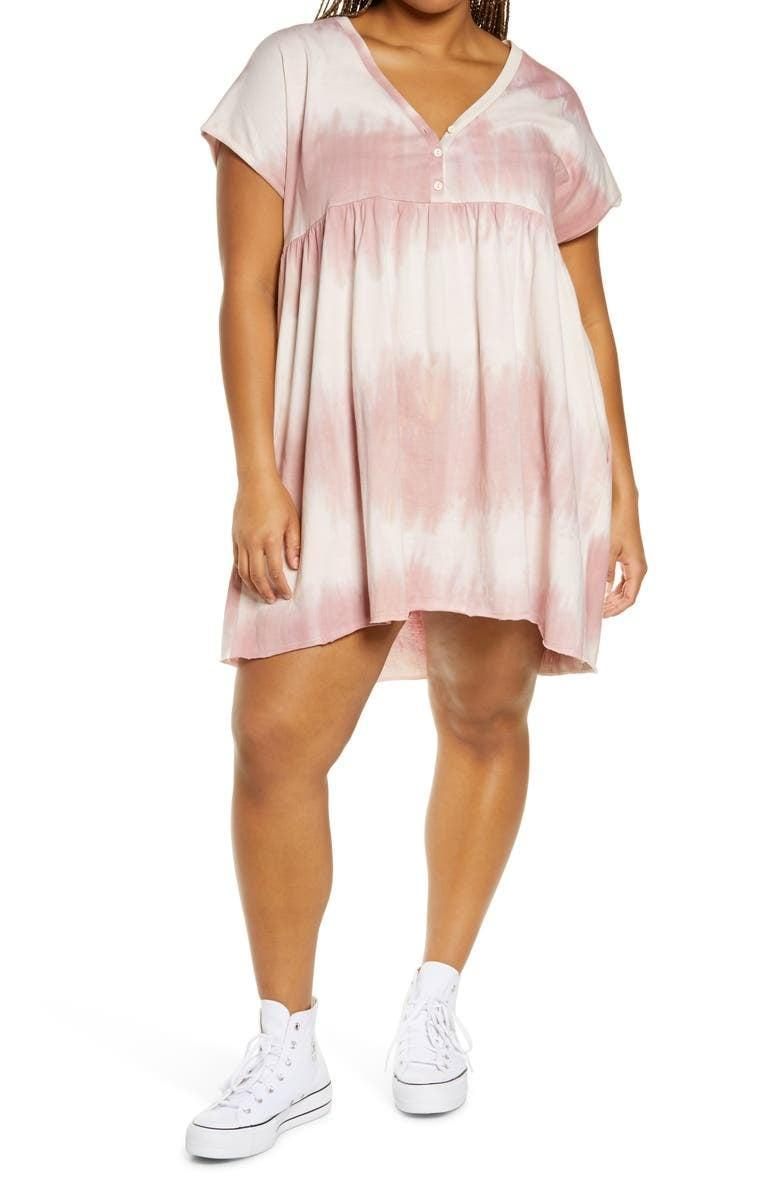 <p>This <span>BP Henley Babydoll Minidress</span> ($39) looks great with white sneakers.</p>