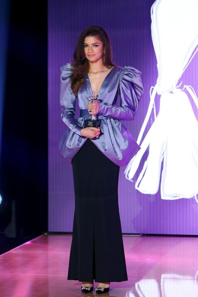 <p>Zendaya was honoured at this year's Essence Black Women in Hollywood Awards and to collect her award she wore a vintage YSL Haute Couture puff-sleeve blazer from 1982 from her stylist Law Roach's personal archive.</p>