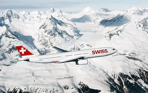 <span>Swiss prides itself on being the skiers' airline of choice</span> <span>Credit: swiss </span>