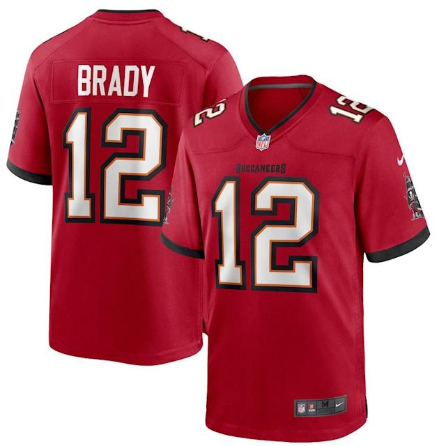 The Tampa Bay Buccaneers just revealed Tom Brady wearing his new No. 12 jersey -- here's where you can snag one of your own