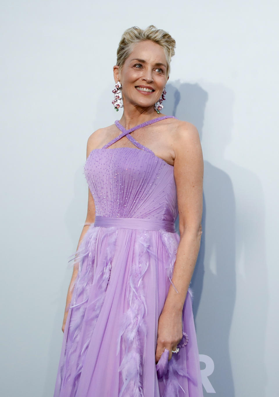 The 74th Cannes Film Festival - The amfAR's Cinema Against AIDS 2021 event - Antibes, France, July 16, 2021. Actor Sharon Stone poses. REUTERS/Sarah Meyssonnier