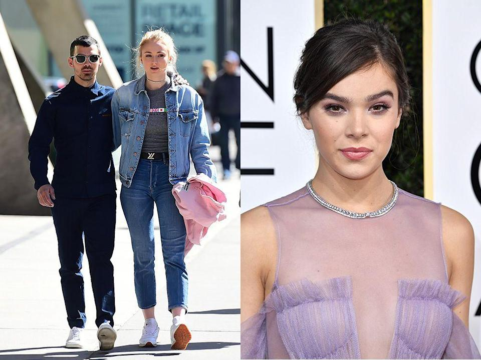 """<p>After Steinfield worked with Joe's band DNCE for their song 'Rock Bottom', Sophie got in touch and asked for his number.</p><p>""""I mean, I will say, I did get that text from Sophie being like, 'So tell me about Joe,' and I was like, 'Go for it,'"""" Steinfeld recalled to <a href=""""https://www.acast.com/smallzy/haileesteinfeld-wednesday31january2018"""" rel=""""nofollow noopener"""" target=""""_blank"""" data-ylk=""""slk:Nova 96.9"""" class=""""link rapid-noclick-resp"""">Nova 96.9</a>'s Smallzy. """"I actually just saw them both for the first time since they got engaged. And yeah, I'm like freaking out about it!""""</p>"""