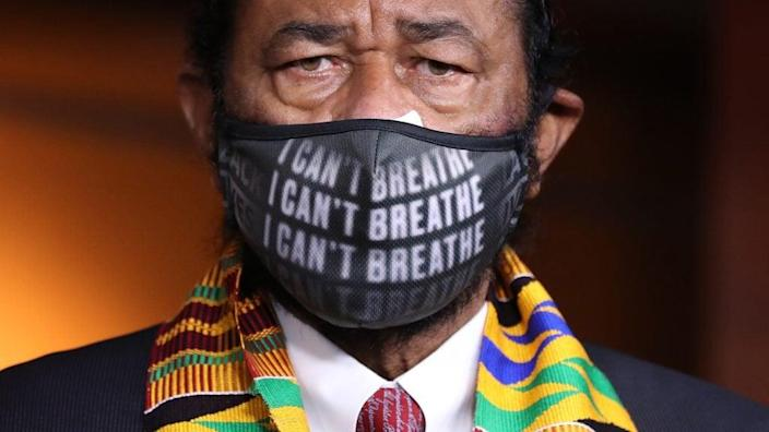 Democratic Texas Rep. Al Green gave an impassioned speech on the floor of the House of Representatives Thursday, where he spoke out in support of the Equality Act. (Photo by Chip Somodevilla/Getty Images)