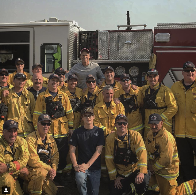 "<p>This guy is grateful. The <em>Code Black</em> star invited his local firefighters — who have been working tirelessly to save civilians and homes in Montecito, Calif. — <a href=""https://www.yahoo.com/lifestyle/rob-lowe-serves-dinner-firefighters-battling-southern-california-flames-203407985.html"" data-ylk=""slk:to his place"" class=""link rapid-noclick-resp"">to his place</a> for a hot meal. ""Thank you to all the crews from all over the country who stood tall and saved my town,"" he captioned this photo. (Photo: <a href=""https://www.instagram.com/p/Bc02Pd9BZf6/?taken-by=robloweofficial"" rel=""nofollow noopener"" target=""_blank"" data-ylk=""slk:Rob Lowe via Instagram"" class=""link rapid-noclick-resp"">Rob Lowe via Instagram</a>) </p>"