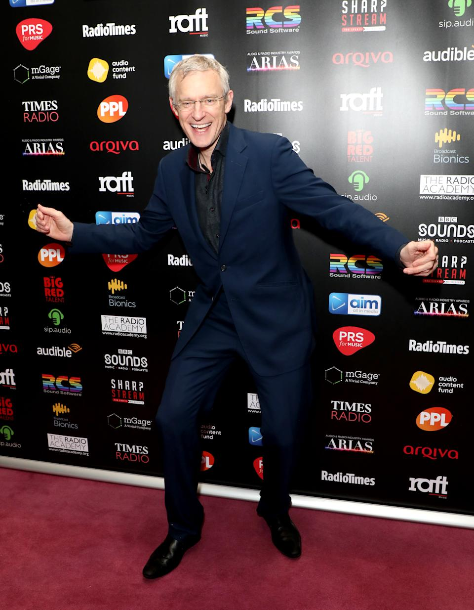 Jeremy Vine attending The Audio and Radio Industry Awards held at The London Palladium, London. (Photo by Lia Toby/PA Images via Getty Images)
