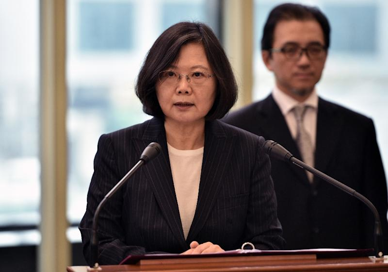 Taiwan's president heads to U.S., but won't meet with Trump