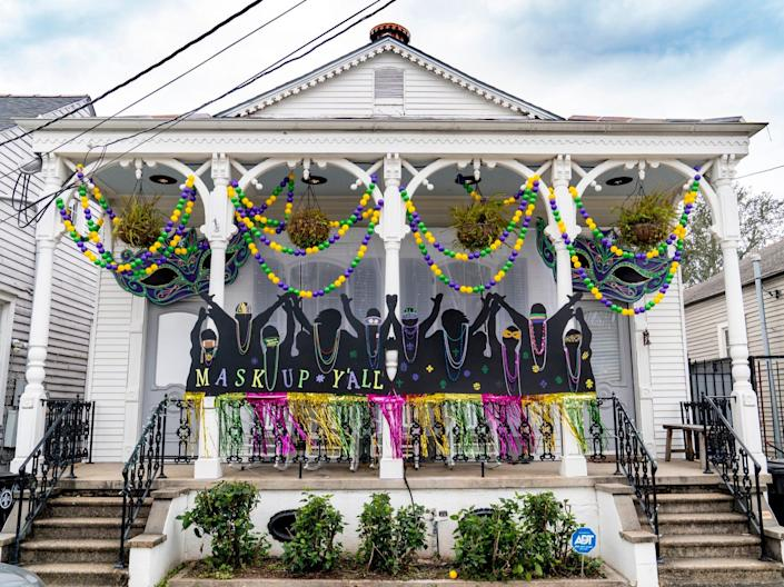 Mardi Gras House Float New Orleans 2021