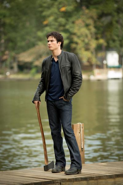 "Ian Somerhalder as Damon Salvatore in ""O Come, All Ye Faithful,"" the ninth episode of ""The Vampire Diaries"" Season 4."