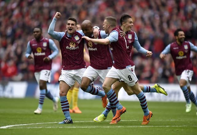 Grealish and Villa knocked Liverpool out of the FA Cup in 2015 (Andrew Matthews/PA)