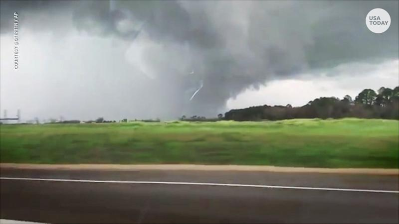 At least 23 people were killed by a tornado in Alabama, near the Georgia line.