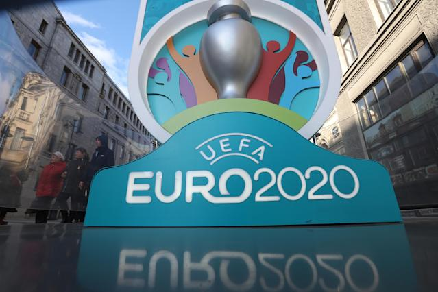 Euro 2020 has been officially delayed by UEFA amid the coronavirus pandemic. (Photo by Sergei Mikhailichenko/SOPA Images/LightRocket via Getty Images)