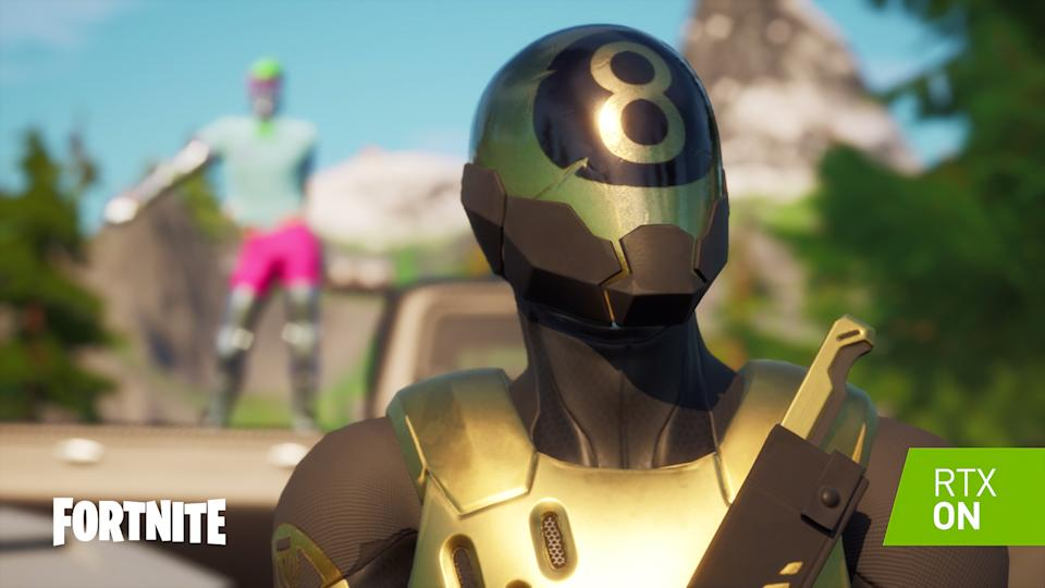 Epic's 'Fortnite' is getting the Nvidia RTX lighting treatment. (Image: Nvidia)