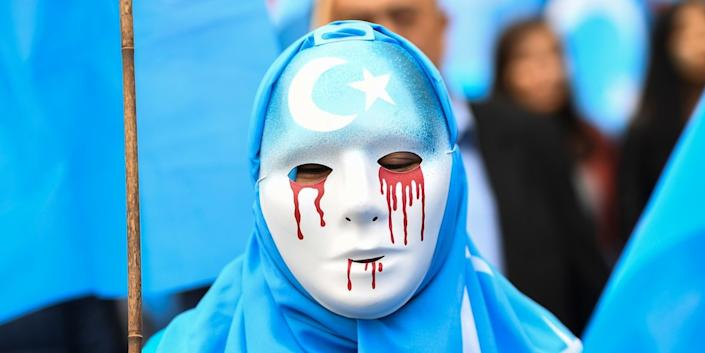 china uighur protest