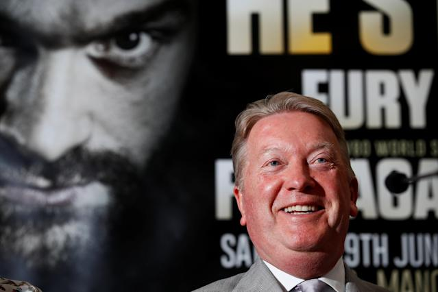 Boxing - Tyson Fury & Sefer Seferi Press Conference - The Midland Hotel, Manchester, Britain - June 6, 2018 Promoter Frank Warren during the press conference Action Images via Reuters/Jason Cairnduff